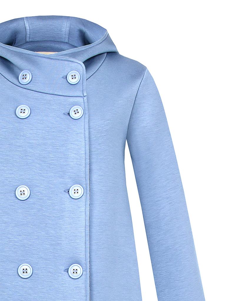 Rinascimento Rinascimento jas met double-breasted knopen en capuchon lichtblauw