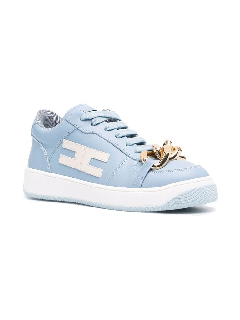 Elisabetta Franchi Elisabetta Franchi sneaker met ketting  blue