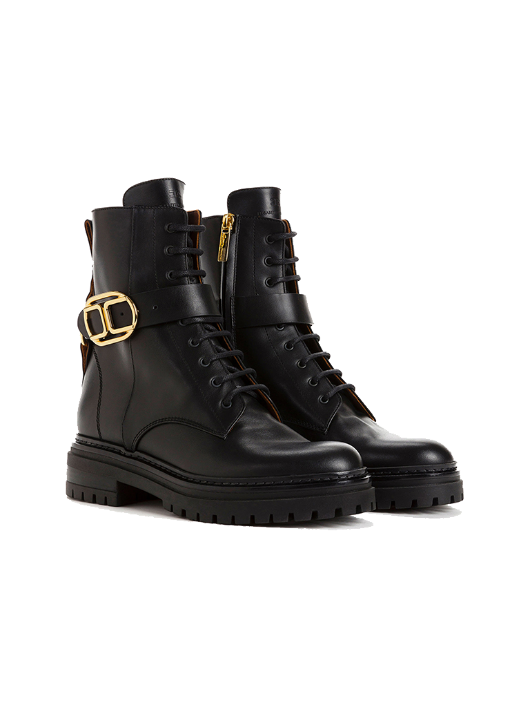 Elisabetta Franchi Elisabetta Franchi Biker boots zwart