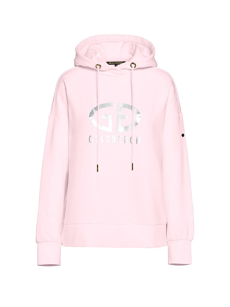 Goldbergh Goldbergh Harvard hoodie met logo roze zilver