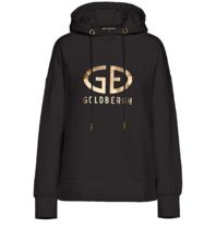 Goldbergh Goldbergh Harvard hoodie met logo wit goud