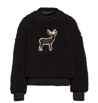 Goldbergh Goldbergh Deer teddy sweater zwart