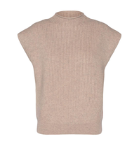 Co'couture Co'Couture Row wing mouwloze sweater beige
