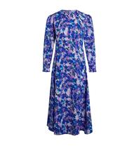 Co'couture Co'Couture Beatriz midi jurk met bloemenprint blauw multicolor