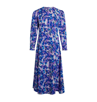 Co'couture Co'Couture Beatriz midi jurk met print blauw
