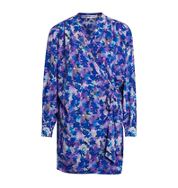 Co'couture Co'Couture Beatriz wrap jurk met print blauw