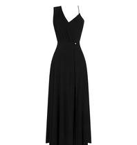 Rinascimento Rinascimento asymmetrische maxi jurk zwart