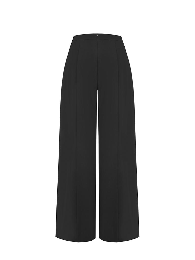 Rinascimento Rinascimento palazzo pantalon zwart
