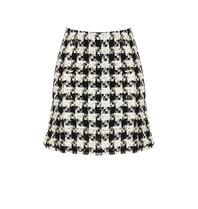 Rinascimento Rinascimento tweed rok met knopen zwart wit