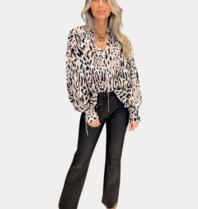 Ravn Ravn RAVN RAVN Ona blouse warm leopard multicolor