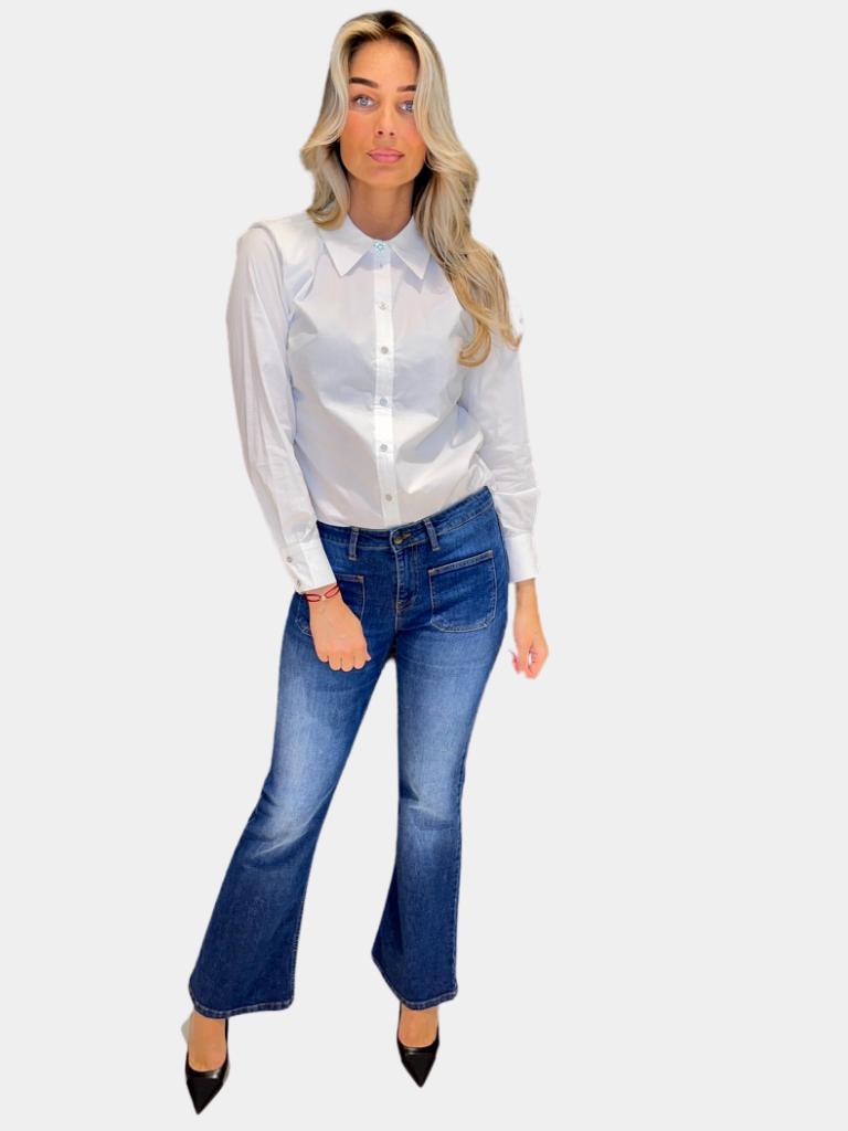 Co'couture Copy of Co'Couture Coriloris Box blouse blauw
