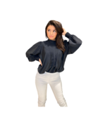 Co'couture Co'Couture Callum Pintuck Frill Shirt zwart