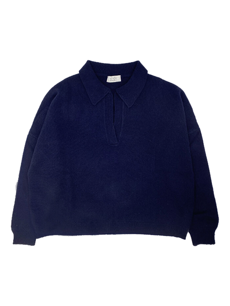 Be You Be You trui met polohals navy