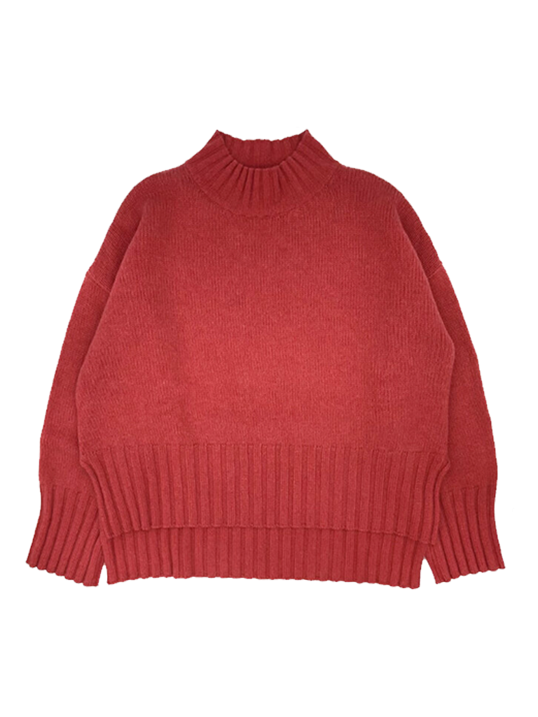 Be You Be You oversized sweater met hoge kraag strawberry