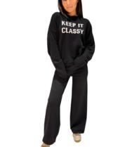 Be You Be You Keep it  classy boxy sweater zwart