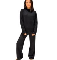 Be You Be You sweater met opstaande kraag zwart