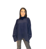 Be You Be You oversized sweater met hoge kraag navy