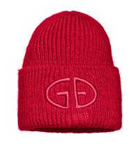 Goldbergh Goldbergh Valerie beanie met logo ruby red