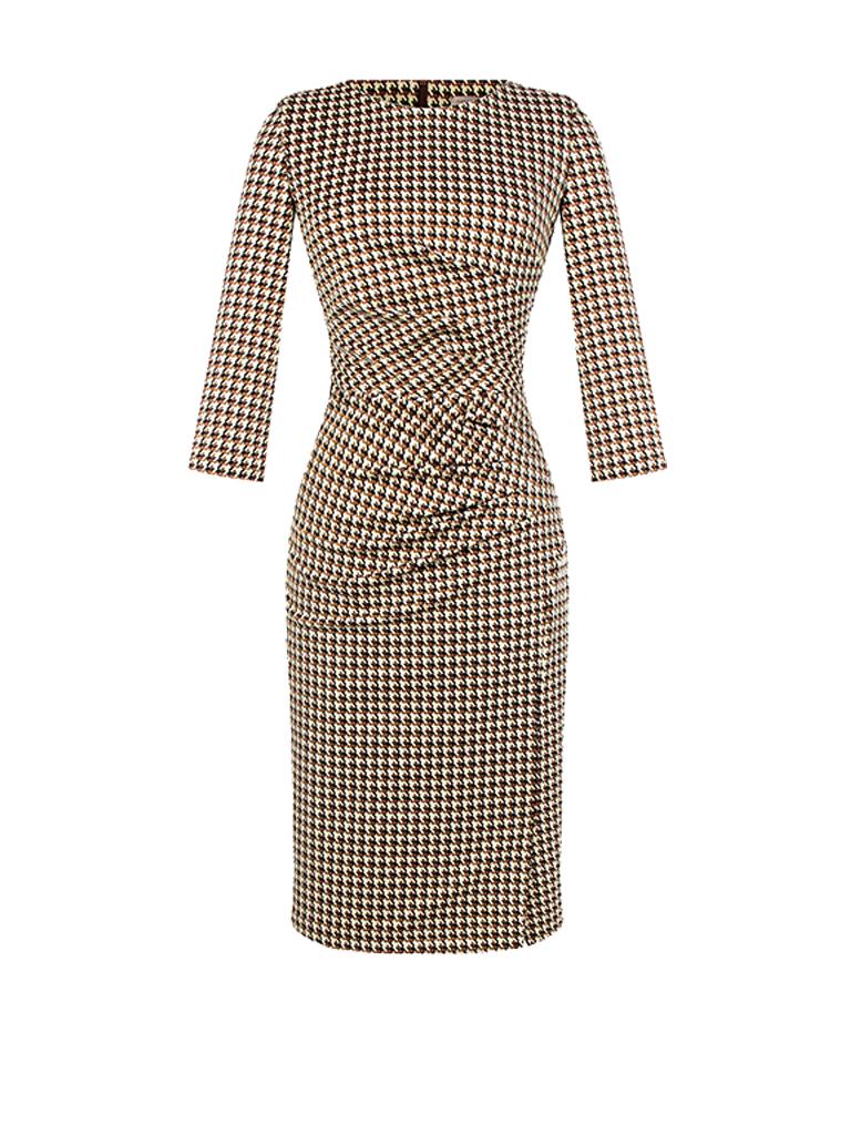 Rinascimento Rinascimento midi jurk met gedrapeerd details pied de poule