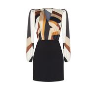 Rinascimento Rinascimento tweedelige jurk met print zwart