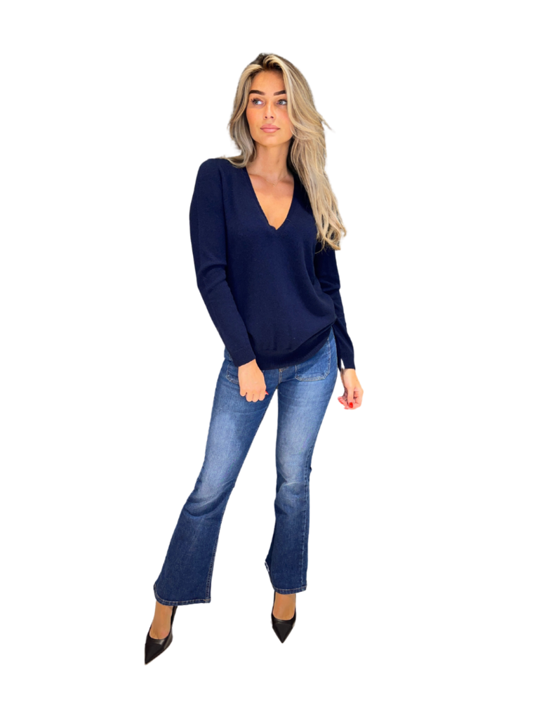 Be You Be You trui met v-hals navy