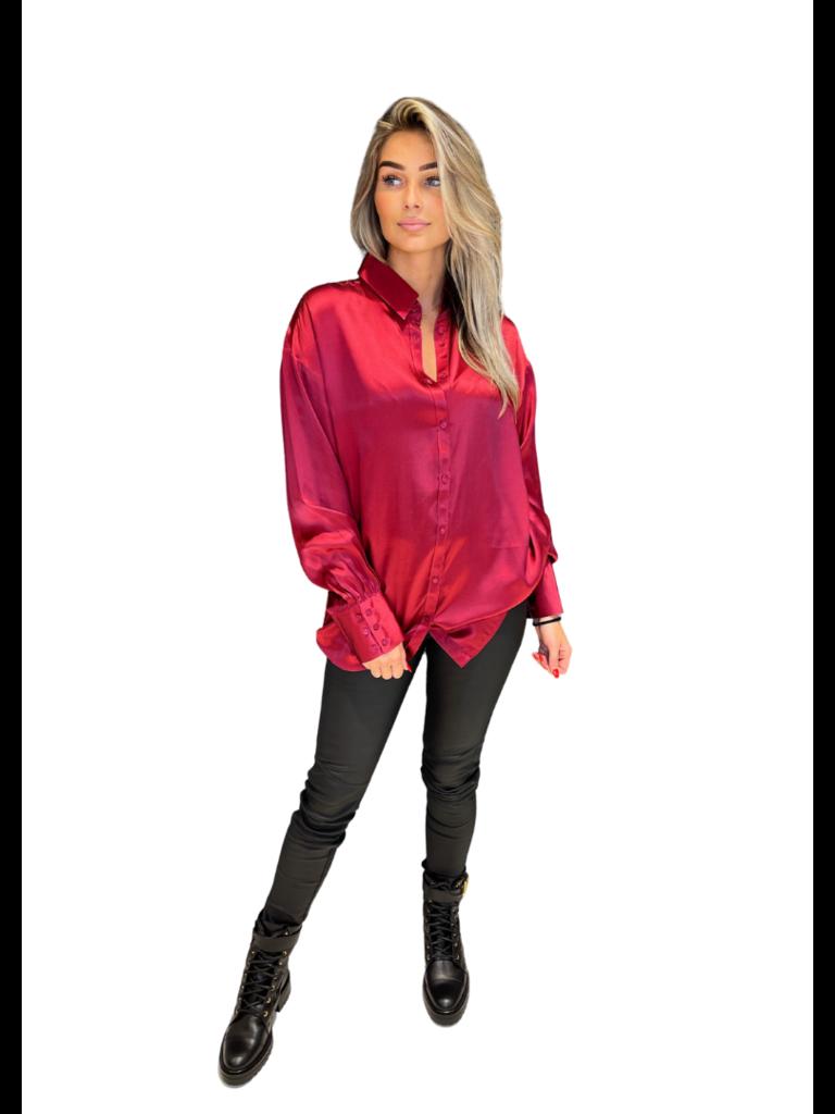 Est'seven Est'Seven One silk blouse persian red