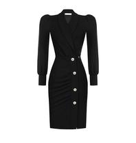 Rinascimento Rinascimento jurk met knopen zwart