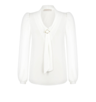 Rinascimento Rinascimento blouse met goud details wit
