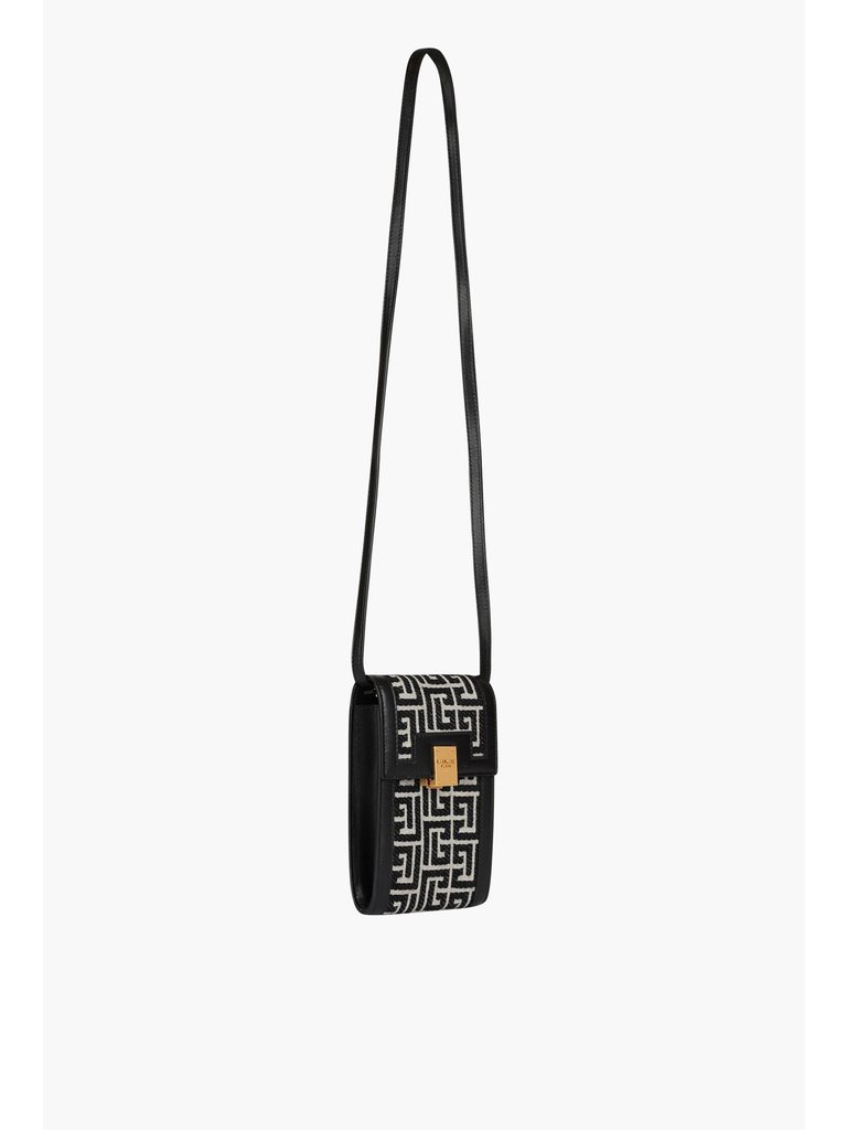 Balmain Balmain telefoonhoes met monogram zwart