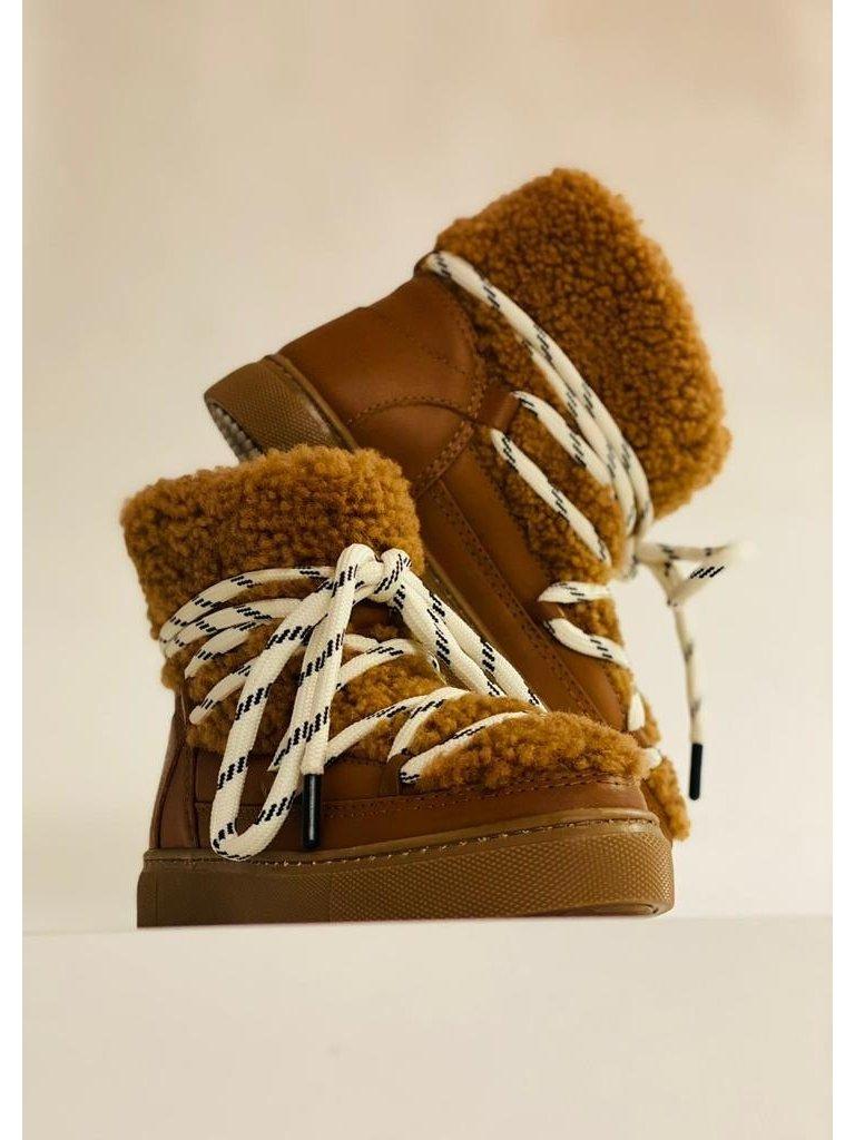 Est'seven Est'Seven Mouton boots Gurly fur cognac
