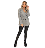 Co'couture Co' couture Colette oversized blazer zwart wit