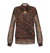 Rinascimento Rinascimento blouse met bloemenprint bruin