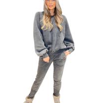 Est'seven Est'seven Olivia sweater Black grey