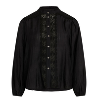 Co'couture Co'Couture Lisissa blouse met kant zwart