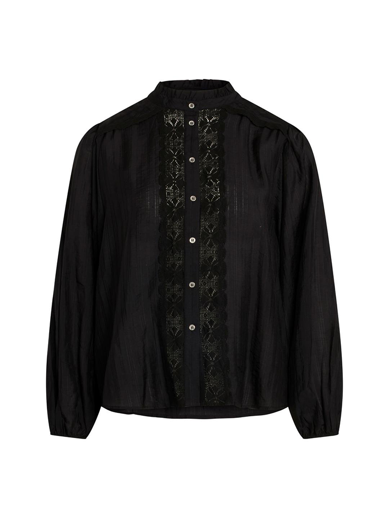 Co'couture Co'Couture Lisissa blouse met kant wit