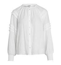 Co'couture Co'Couture Cora pleat blouse off white