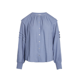 Co'couture Co'Couture Cora pleat blouse blauw
