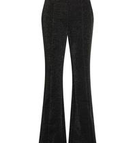 Co'couture Co'Couture Sikka glitter flared pantalon zwart