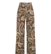 Rinascimento Rinascimento pantalon met paisley print groen