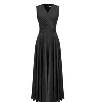 Rinascimento Rinascimento glitter maxi jurk zwart