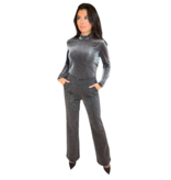 Co'couture Co'Couture Shimmer mesh top zilver