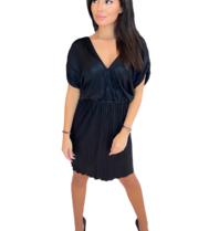 Rinascimento Rinascimento jurk met plisse zwart