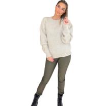 Est'seven Est'Seven Vetements knitted sweater off white