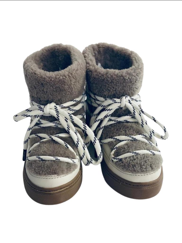 Est'seven Est'Seven Mouton boots Gurly fur off white