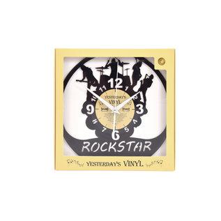 "Klok ""Rockstar"" van gerecycled Vinyl"