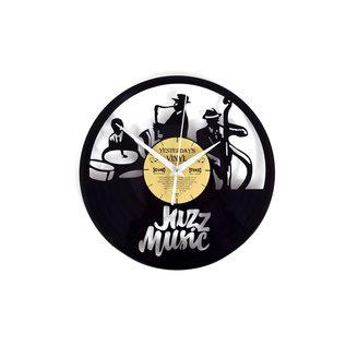 "Klok ""Jazz"" van gerecycled Vinyl"