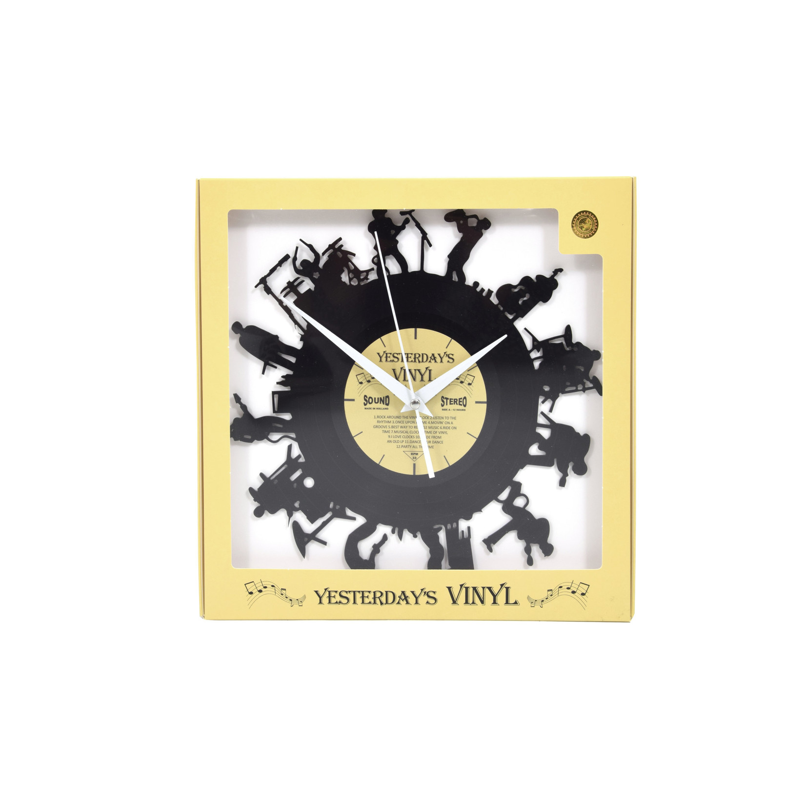 "Klok ""Band"" van gerecycled Vinyl"