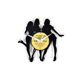 """Klok """"Dames"""" van gerecycled Vinyl"""