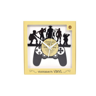 """Klok """"Gaming"""" van gerecycled Vinyl"""