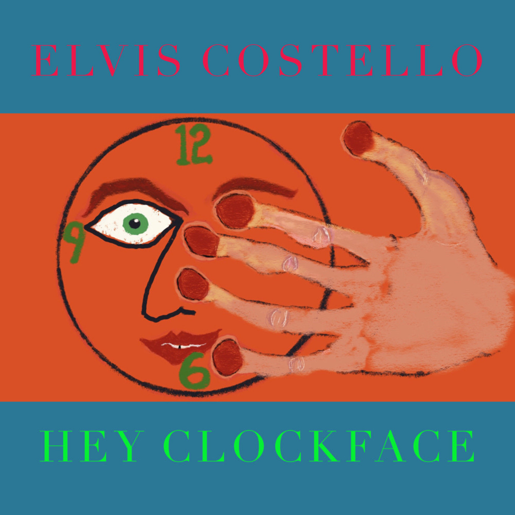 COSTELLO_ ELVIS- HEY CLOCKFACE -COLOURED-   (VINYL)